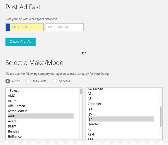 CarSpecs classifieds ads plugin