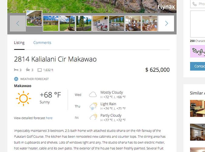 Weather widget plugin property details