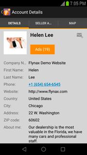 dealer profile in app